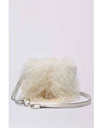 Diane von Furstenberg Love Power Mongolian Fur Saddle Bag