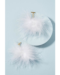 Tuleste Marabou Pom Earrings