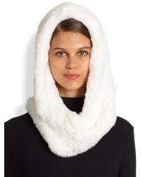 Annabelle New York Rabbit Fur Hoodwhite