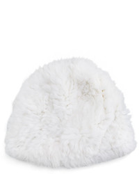 Belle fare knitted rabbit fur reversible puffy hat medium 422426