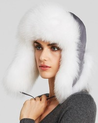 Maximilian Fox Fur Trimmed Trooper Hat