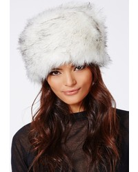 Missguided Raziya Faux Fur Hat White