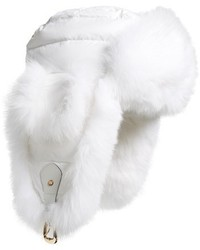 Tasha Tarno Nylon Genuine Fox Fur Trapper Hat