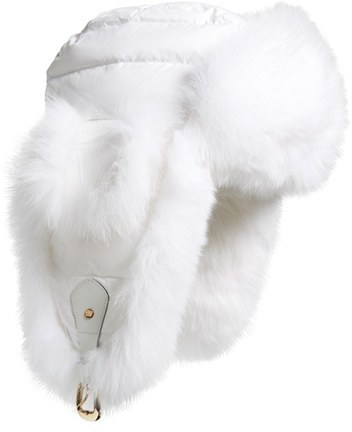 ae1605a9d20 ... White Fur Hats Tasha Tarno Nylon Genuine Fox Fur Trapper Hat ...