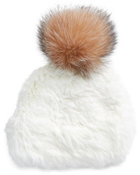 Surell Rabbit And Fox Fur Ski Hat