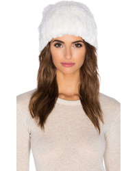 Rex rabbit fur pom pom beanie medium 422420