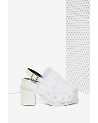 Y.e.s. Yes Topaz Faux Fur Platform