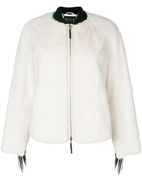 Cara mila falcon white mink bomber medium 6465365