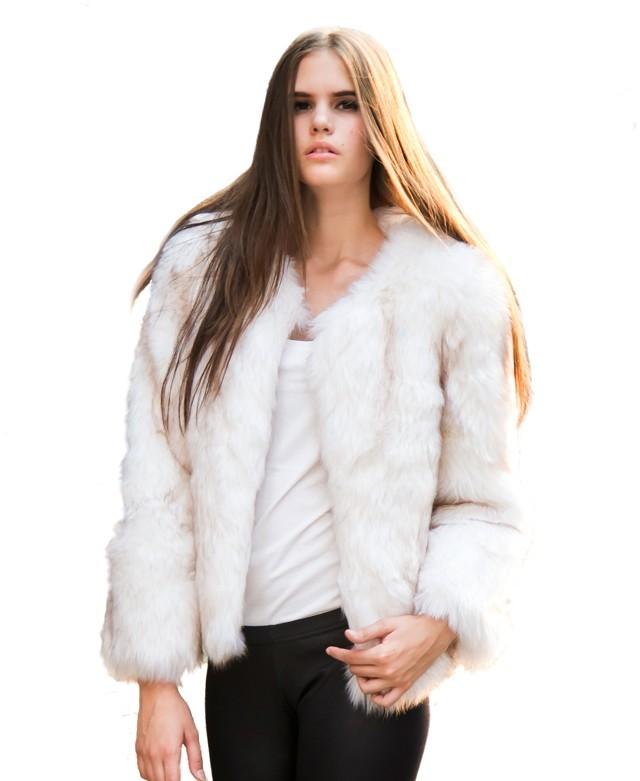 ChicNova Imitated Fur Pure Color Short Coat