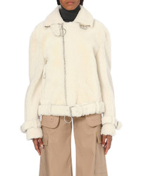 Off-White Co Virgil Abloh Zip Through Shearling Jacket