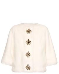 Dolce & Gabbana Crystal Embellished Mink Fur Jacket