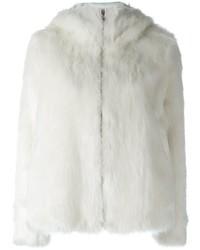 Dondup Faux Fur Zip Up Jacket