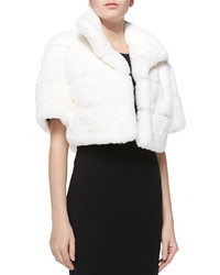 GORSKI Layered Rabbit Fur Jacket White