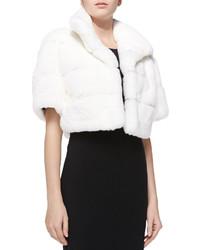 GORSKI Layered Rabbit Fur Jacket White
