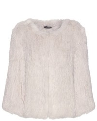 Meteo By Yves Salomon Knitted Rabbit Fur Jacket