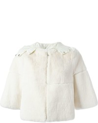 P.A.R.O.S.H. Hooded Rabbit Fur Jacket
