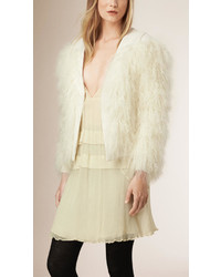 Burberry Prorsum Shearling Detail Virgin Wool Cashmere Jacket