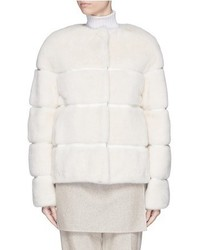 Yves Salomon Reversible Mink Fur Nylon Puffer Jacket