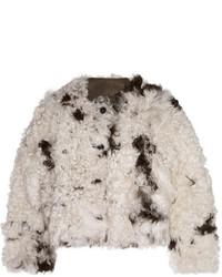 Marni Reversible Shearling Coat Off White