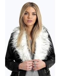 Boohoo Maisie Faux Fur Stole