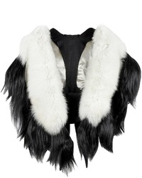 Fearfur Bad Black Kite White And Black Fur Stole