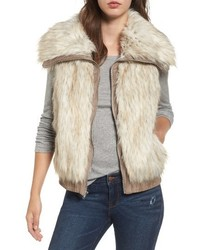 BB Dakota Collared Faux Fur Vest