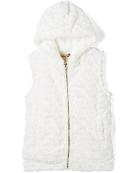 Speechless White Faux Fur Hooded Vest Girls