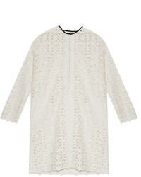 MSGM Geometric Macram Collarless Coat