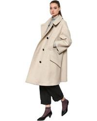Etoile Isabel Marant Wool Blend Basket Weave Twill Coat