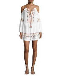 Nanette Lepore Tribal Beat Cold Shoulder Coverup Tunic White