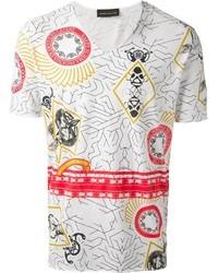 Diesel Black Gold Geometric Print T Shirt