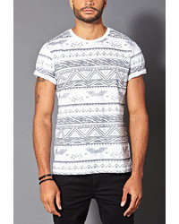 Forever 21 Tribal Print Cotton Tee