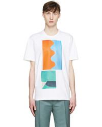 Marni White Painterly Jack Davidson Edition T Shirt