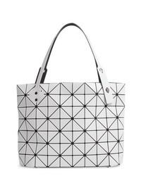495c6aa534b9b White Geometric Leather Tote Bags for Women