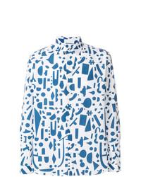 Jijibaba Geometric Print Shirt
