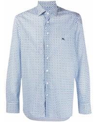 Etro Logo Embroidered Geometric Print Shirt