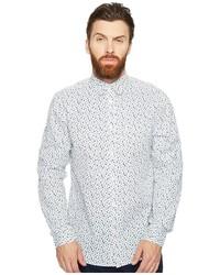 Ben Sherman Long Sleeve Mod Print Geo Shirt Clothing