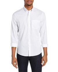 Nordstrom Men's Shop Slim Fit Non Iron Geo Print Sport Shirt