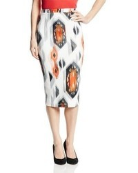 XOXO Juniors Printed Navajo Scuba Pencil Skirt