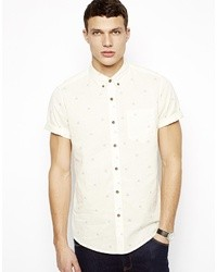 Asos Brand Shirt In Short Sleeve With Tile Geo Print