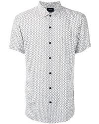 Armani Jeans Geometric Print Shortsleeved Shirt