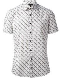 Les Hommes Fence Print Shirt