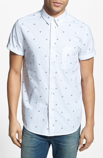White Top Man Button Up