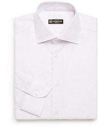 Corneliani Regular Fit Checked Cotton Dress Shirt