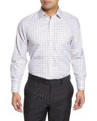 Nordstrom Men's Shop Smartcare Traditional Fit Plaid Dress Shirt