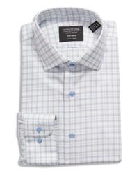 Nordstrom Trim Fit Plaid Stretch Non Iron Dress Shirt