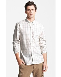Todd Snyder Grid Check Cotton Woven Shirt