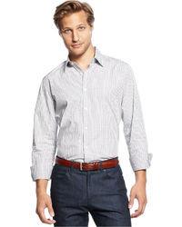 Vince Camuto Shirt Slim Dress Dobby Check Shirt
