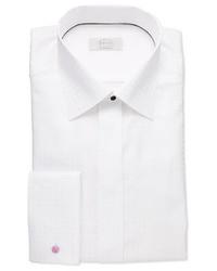 Eton White On White Check Dress Shirt