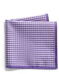 Saks Fifth Avenue Collection Gingham Paisley Silk Pocket Square
